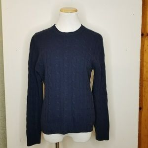 Brooks Brothers Cashmere Cable Knit Sweater